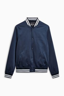 College Sateen Bomber