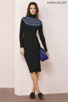 Karen Millen Stitch Yoke Signature Stretch Knit Jumper
