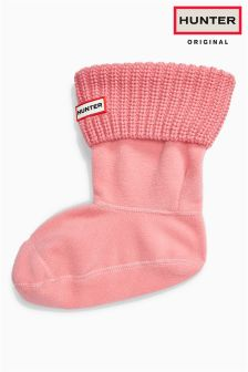 Hunter Original Panther Pink Half Cardigan Short Boot Sock