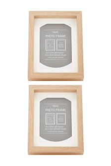 "Set Of 2 6 x 4"" Ash Frames"