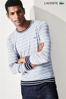 Lacoste® Navy/White Stripe Crew Neck Jumper