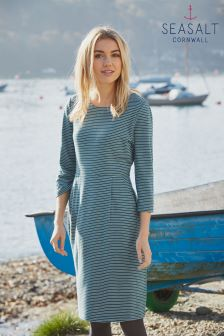 Seasalt Grey Stripe Nadine Dress