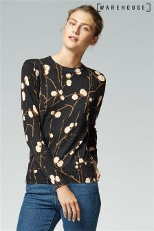 Warehouse Black Firefly Dotty Jumper