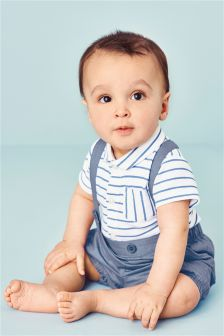 Blue Stripe Two Piece Set (0mths-2yrs)