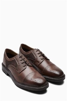 Fabric Mix Toe Cap Brogue
