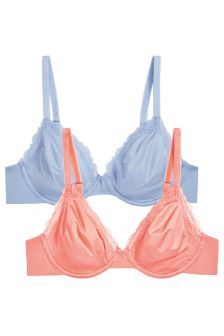 Georgie Non Padded Full Cup Smooth Bras Two Pack