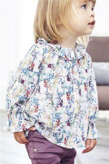 Floral Print Ruffle Blouse (3mths-6yrs)