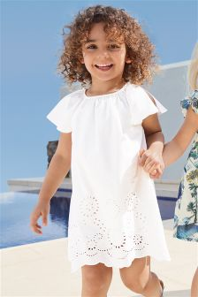 Broderie Detail Dress (3mths-6yrs)