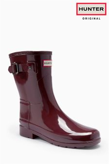 Hunter Red Gloss Short Wellies