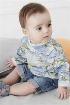 Printed Sweat Top (0mths-2yrs)