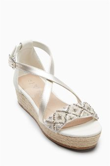 Embellished Wedge Sandals (Older Girls)