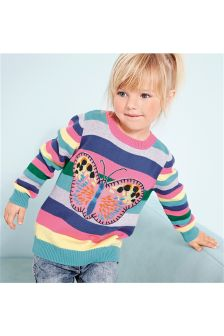 Butterfly Appliqué Jumper (3mths-6yrs)