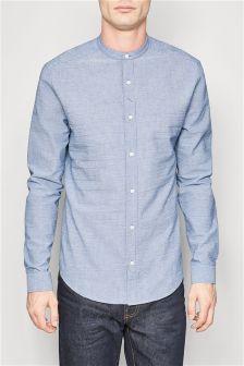 Long Sleeve Striped Grandad Shirt