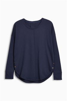 Long Sleeve Side Detailed Top