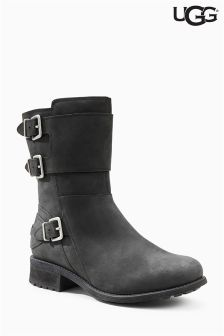 Ugg® Black Wilcox Buckle Mid Boot