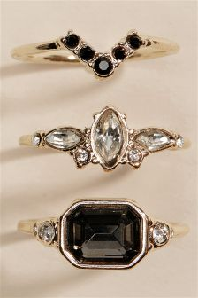 Vintage Effect Rings Two Pack