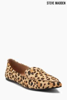 Steve Madden Leopard Pony Skin Point Loafer
