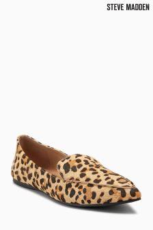 Steve Madden Leopard Pony Skin Point Loafer