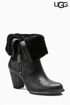 Ugg® Black Lynda Shearling Zipped Ankle Boot