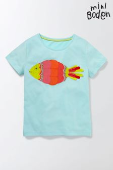 Boden Blue Aquatic Appliqué T-Shirt