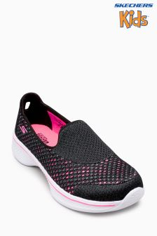 Skechers® Girl Black Go Walk 4 Kindle