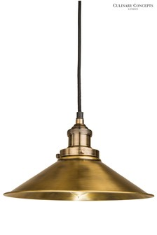Culinary Concepts Antique Brass Prohibition Pendant
