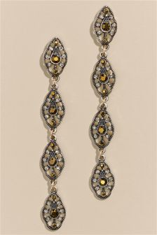 Vintage Effect Drop Earrings
