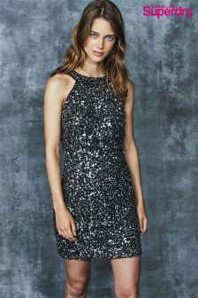 Superdry Grey Sequin Dress