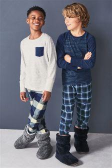 Woven Check Pyjamas Two Pack (3-16yrs)