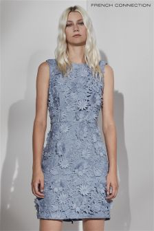 French Connection Blue Manzoni Lace Sleeveless Dress