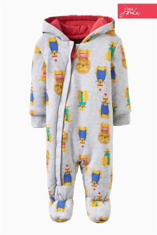 Little Joule Grey Lion Pramsuit