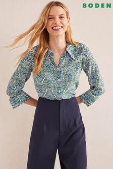 Mango White Embroidered Dress