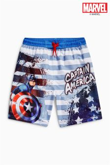 Captain America Swim Shorts (3-12yrs)