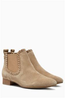 Plait Detail Chelsea Boots