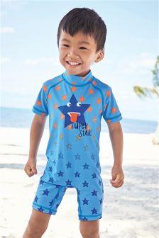 Star Print Sunsafe Suit (3mths-6yrs)
