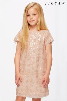 Jigsaw Gold Sequin Dress