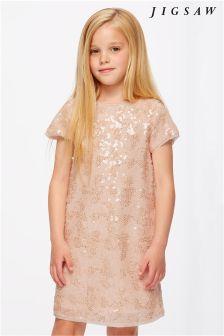 Jigsaw Gold Sequin Dress