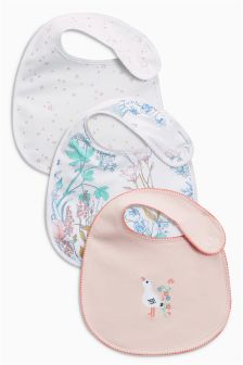 Floral Regular Bibs Three Pack