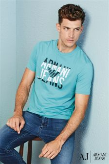 Armani Jeans Turquiose Graphic T-Shirt