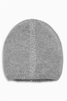 Studded Beanie With Cashmere