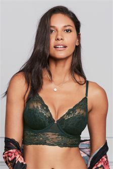 Phoebe Lace Light Pad Longline Balcony Bra