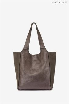 Mint Velvet Erin Metallic Finish Slouchy Shopper