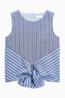 Stripe Tie Shirt (3-16yrs)