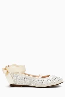 Pearl Effect Ballet Shoes (Older Girls)