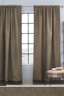 Bouclé Multi Header Lined Curtains