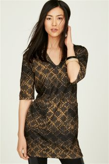 Textured Pocket Tunic
