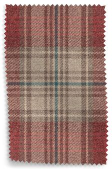 Versatile Check Stirling Red Fabric Roll