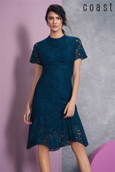 Coast Green Linera Lace Dress