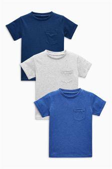 Textured T-Shirts Three Pack (3mths-6yrs)