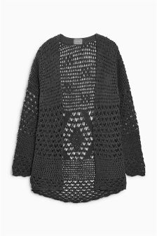 Crochet Long Cardigan (3-16yrs)